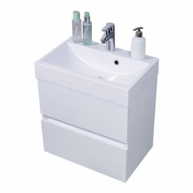 Тумба для ванной комнаты Fancy Marble Man с раковиной UM-550 Белая