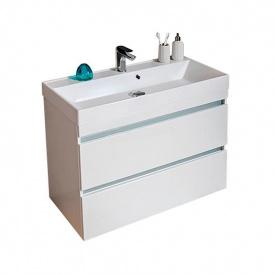 Тумба для ванной комнаты Fancy Marble с умывальником Sherman 1000 Белая