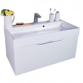 Тумба для ванной комнаты Fancy Marble Bermuda 1 с умывальником Ashley 90 Белая