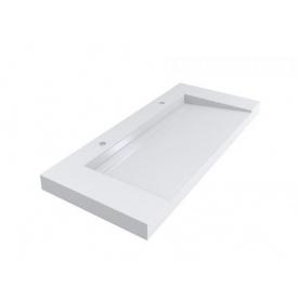 Умывальник подвесной из литого мрамора Miraggio Olmos 1200 Белый глянцевый 0000224