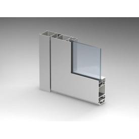 Алюминиевые двери из холодного алюминия Alutech ALT C43