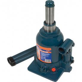 Домкрат гидравлический бутылочный Miol 2 поршня, 2 т, h150-370 мм (80-085)