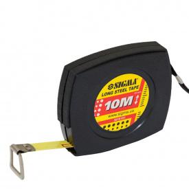 Рулетка Sigma стальная лента 10м*10мм (3816101)