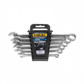 Ключи рожково-накидные Sigma 6шт 8-17мм CrV head polished (6010181)