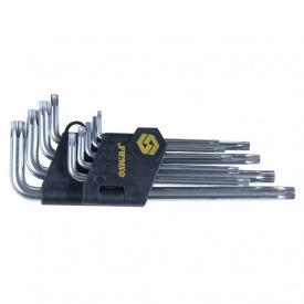 Ключи TORX 9шт T10-T50мм CrV (средние с отвер) Sigma (4022221)