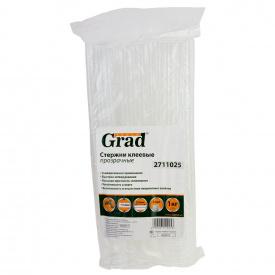Стержни клеевые Ø11.2×300мм 34шт 1кг (прозрачные) GRAD (2711025)