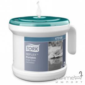 Настольный вытяжной дозатор бумажных полотенец Tork Reflex 473186 белый + 1 рулон двухслойных бумажных полотенец