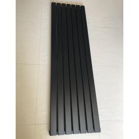 Вертикальный дизайнерский радиатор отопления TM ARTTIDESIGN Livorno 7/1600 чёрный матовый