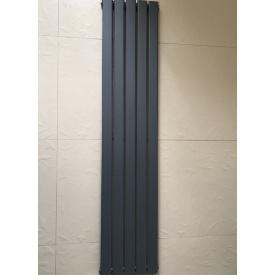 Вертикальный дизайнерский радиатор отопления TM ARTTIDESIGN Livorno II 5/1800 Цвет серый матовый