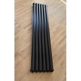 Вертикальный дизайнерский радиатор отопления TM ARTTIDESIGN Verona 6/1800 черный матовый