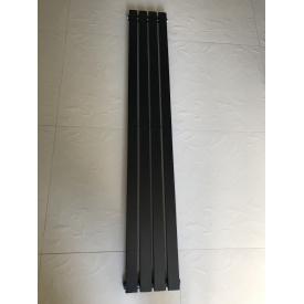 Вертикальный дизайнерский радиатор отопления ТМ ARTTIDESIGN Terni 4/1500 чёрный матовый