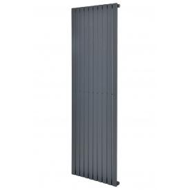 Вертикальный дизайнерский радиатор отопления ТМ ARTTIDESIGN Terni 10/1800 серый матовый