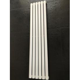 Вертикальный дизайнерский радиатор отопления TM ARTTIDESIGN Rimini 6/1800 белый матовый