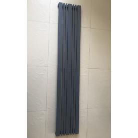 Вертикальный дизайнерский радиатор отопления ТМ ARTTIDESIGN Lucca 10/1800 антрацит матовый
