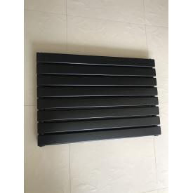Горизонтальный дизайнерский радиатор отопления Livorno || G 8/600 чёрный матовый