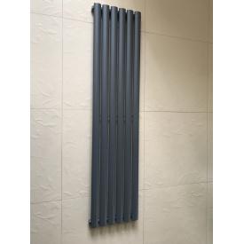 Вертикальный дизайнерский радиатор отопления TM ARTTIDESIGN Rimini 6/1800 серый матовый