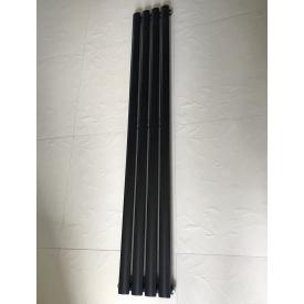 Вертикальный дизайнерский радиатор отопления ТМ ARTTIDESIGN Rimini 4/1800 чёрный матовый