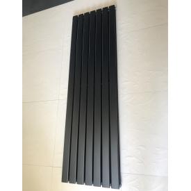 Вертикальный дизайнерский радиатор отопления TM ARTTIDESIGN Livorno 7/1800 чёрный матовый