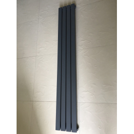 Вертикальный дизайнерский радиатор отопления ТМ ARTTIDESIGN Terni 4/1500 серый матовый