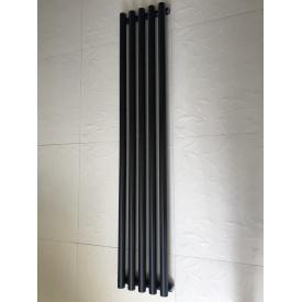 Вертикальный дизайнерский радиатор отопления TM ARTTIDESIGN Matera 5/1500 чёрный матовый