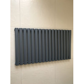 Горизонтальный дизайнерский радиатор отопления модель Rimini II 17/550 Цвет серый матовый
