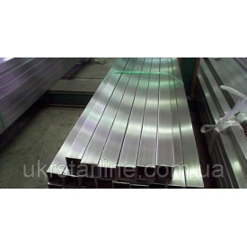 Труба квадратна 100х100х3 мм AISI 201 полірована шліфована матова