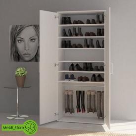 Шафа розпашній з полицями для одягу та взуття з ДСП 800х1780х390 мм