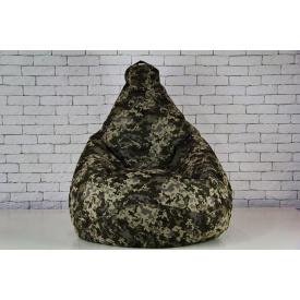 Бескаркасное кресло мешок груша XL камуфляжный 120х75