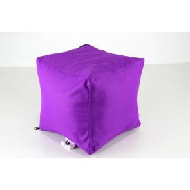 Фіолетовий м'який пуф Кубик 25х25 см