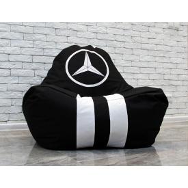 Бескаркасное кресло мешок груша пуфик XL oxford Мерседес черный