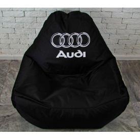 Бескаркасное кресло мешок диван с логотипом Audi XL oxford