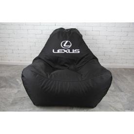 Бескаркасное кресло мешок диван с логотипом Lexus XL oxford