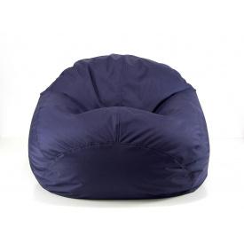 Бескаркасное кресло мешок груша XXL 130х160 темно-синее