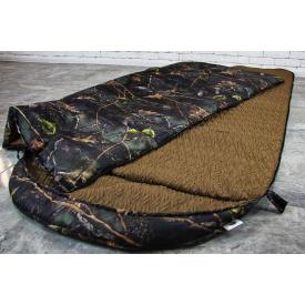 Тактический спальный мешок Arvisa термо-ткань 225х100 см камуфляж дуб