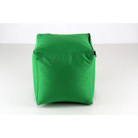 Зеленый мягкий пуфик Кубик 25х25 см