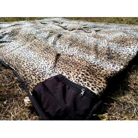 Спальный мешок Arvisa на флисе 220х144 см коричневый