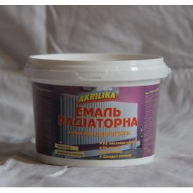 Akrilika Емаль радіаторна білосніжна 0,8 кг