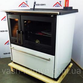 Отопительно-варочная печь Plamen 850 Glas белая