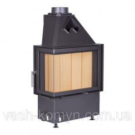 Угловая каминная стальная топка Kobok CHOPOK R 90-S/450 LD L/P 450/450