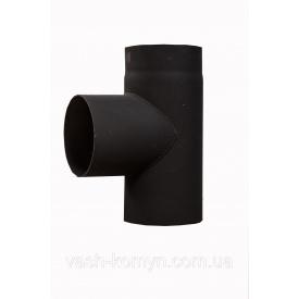Трійник 90 градус чорний жаростійкий 2 мм