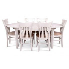 Кухонний дерев'яний комплект стіл Дортмунд та 6 стільців Галле