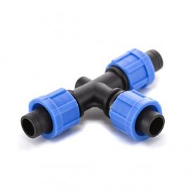 Трійник затискний Presto-PS для краплинної стрічки (TT-0117)