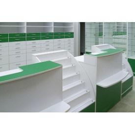 Виготовлення касової вітрини з ДСП та скла для аптеки