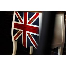 Комод дерев'яний Прем'єр Меблі білий фасад прапор Англії