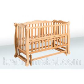 Деревянная кроватка-колыбель Гойдалка Натали 1В36-2 льняное масло