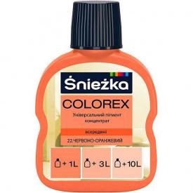 Краситель Sniezka Colorex №22 красно-оранжевый 100 мл