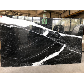 Negro Marquina diagonal open book черный мрамор 20 мм