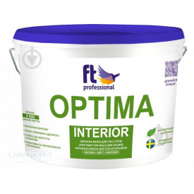 FT Optima Interior 10л Глубокоматовая Фарба для стелі та стін