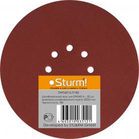 Шлифбумага круглая Sturm DWS 6016-9180 225 мм зерно 180 20 шт