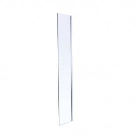 Стенка 400x1900 мм каленное прозрачное стекло 8мм VOLLE 18-07-40